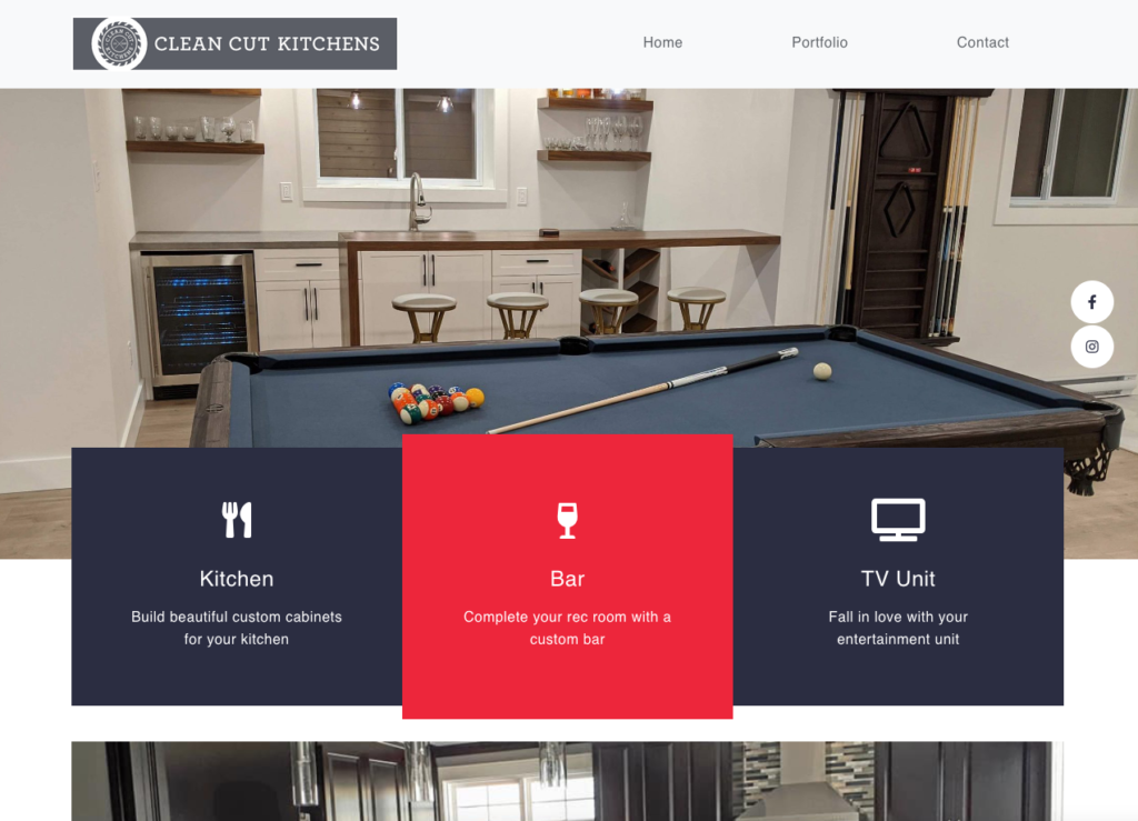 Clean Cut Kitchens Website